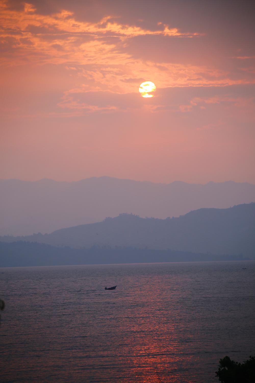 Sunset on Lake Kivu, in Goma, DRC