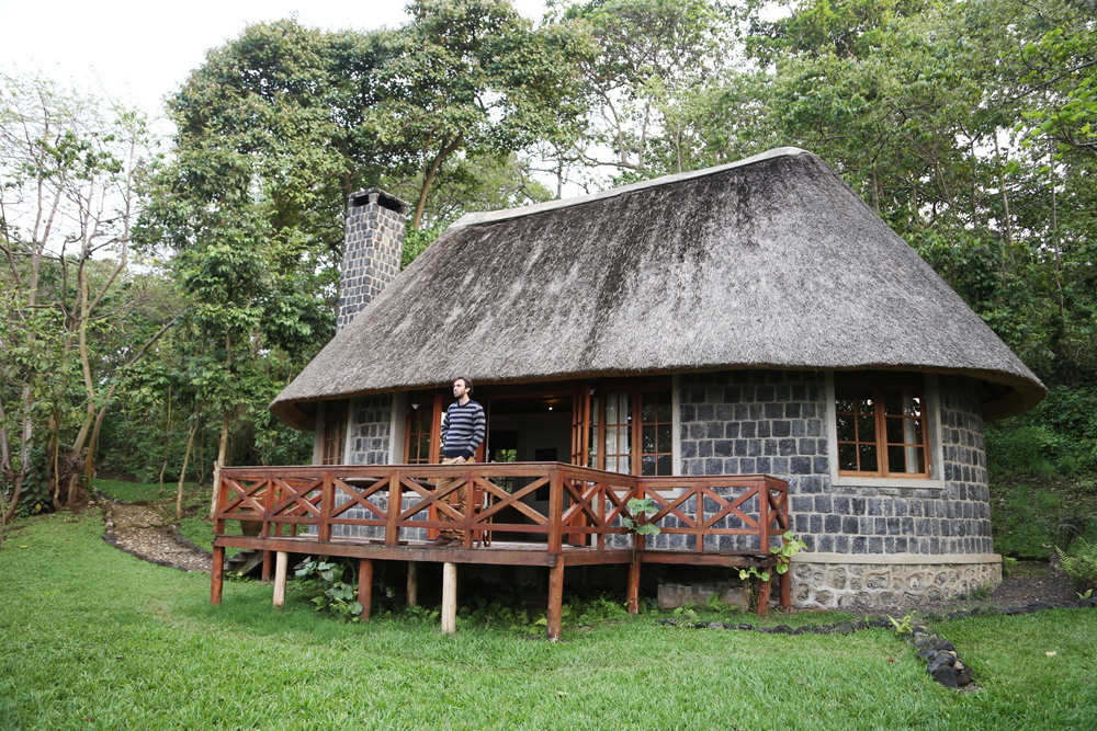 Our bungalow at Mikeno lodge