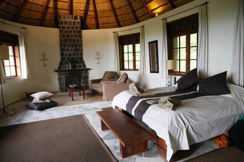 Inside our cozy bungalow