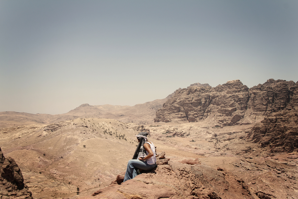 Atop the hills of Petra.