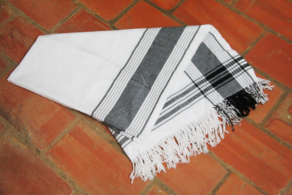 African kikoy scarf found downtown Kampala