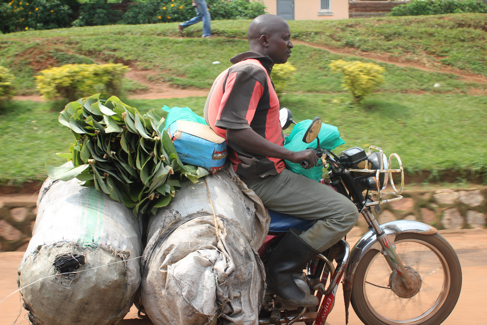 big load on a boda