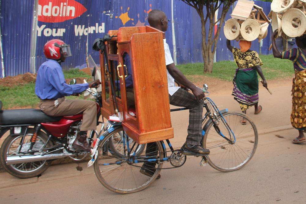 cabinet on a bike