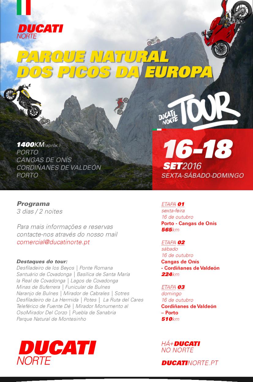 TOUR     DUCATI NORTE - Setembro 2016