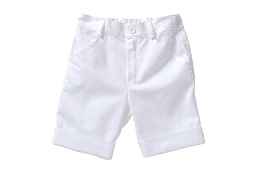 LC73–COTTON CASUAL WHITE BERMUDA