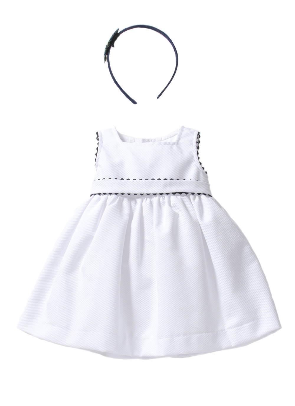 LC83 – WHITE PIQUET COTTON DRESS