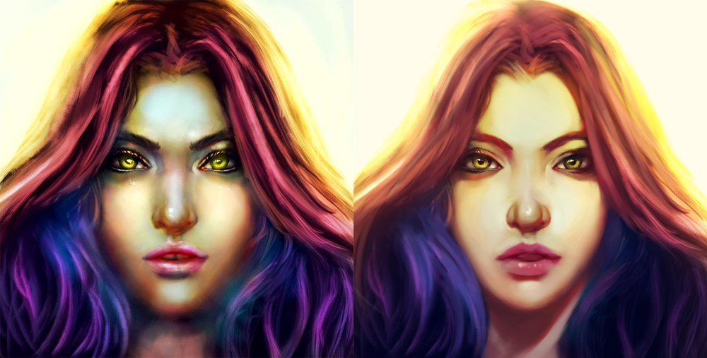 Session 21 -   PSD file     Left:  Unknown Artist   Right:  Wojtek Fus