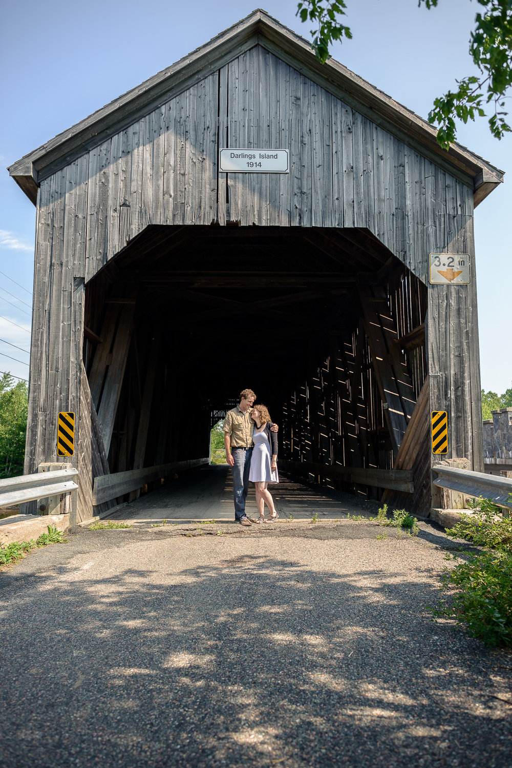 Adam and Heather get their engagement photos made in Rothesay, NB