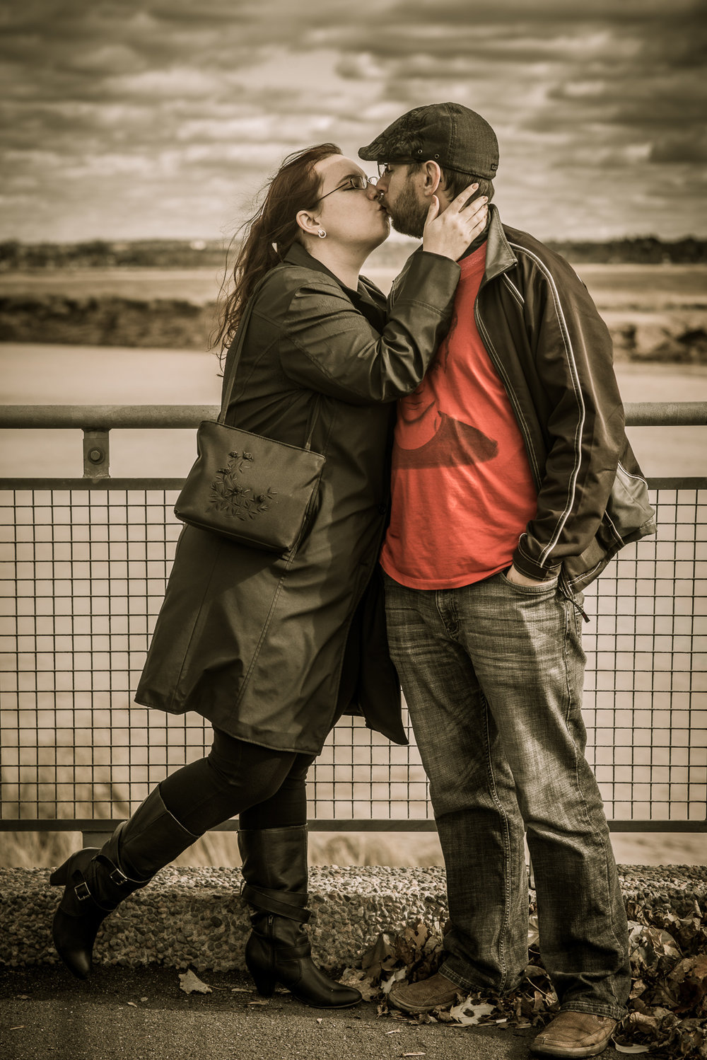 Serge and Deena's comic book inspired engagement shoot downtown Moncton, NB