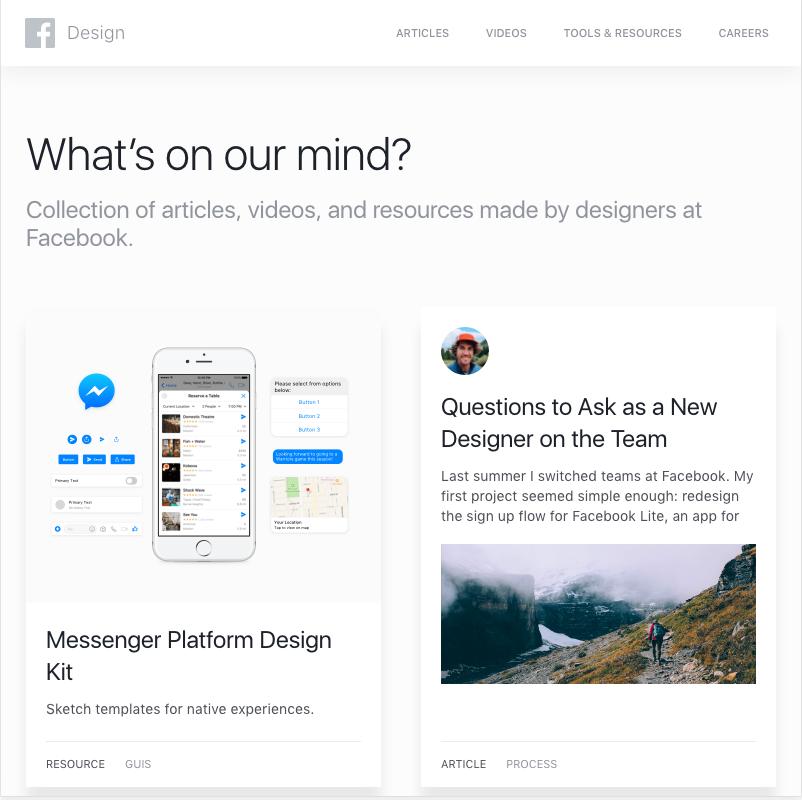 Facebook Design - website,app