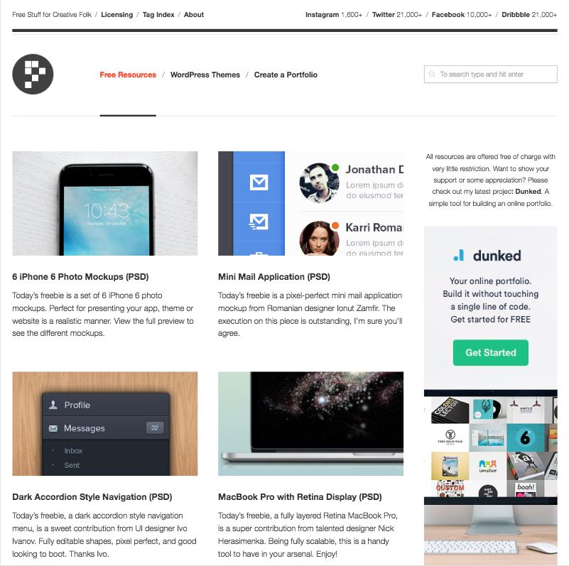 PremiumPixels - website, app