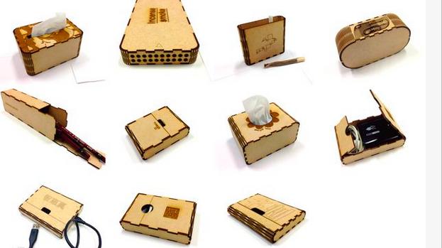 Cutting Box Toolで出来た箱たち。いろんな使い道があります。
