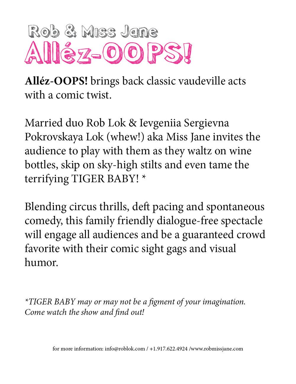 Allez OOPS Show Description