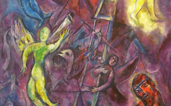 Marc Chagall.   Jacob's Ladder  , from Art in the Christian Tradition, a project of the Vanderbilt Divinity Library, Nashville, Tenn.