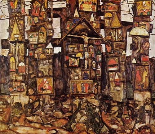 """""""Woodland Prayer"""" by Egon Schiele, 1915. Source:  Wikiart"""