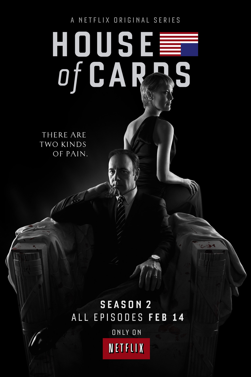 House of Cards Season 2 began again on February 14, 2014