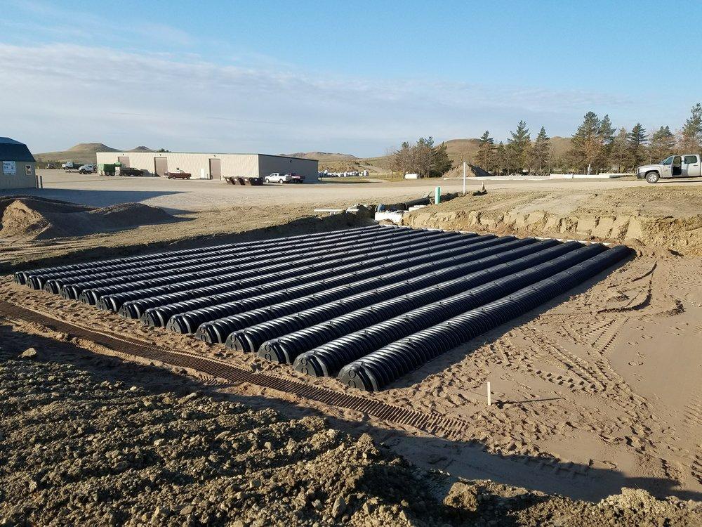 Drain Field installled