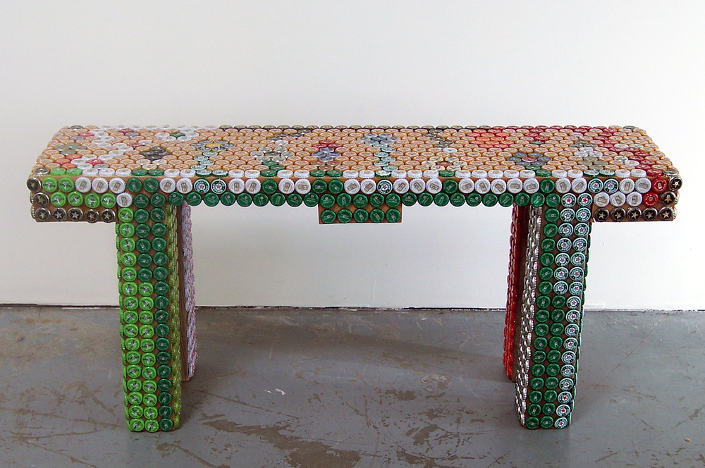 Bottle Cap Bench
