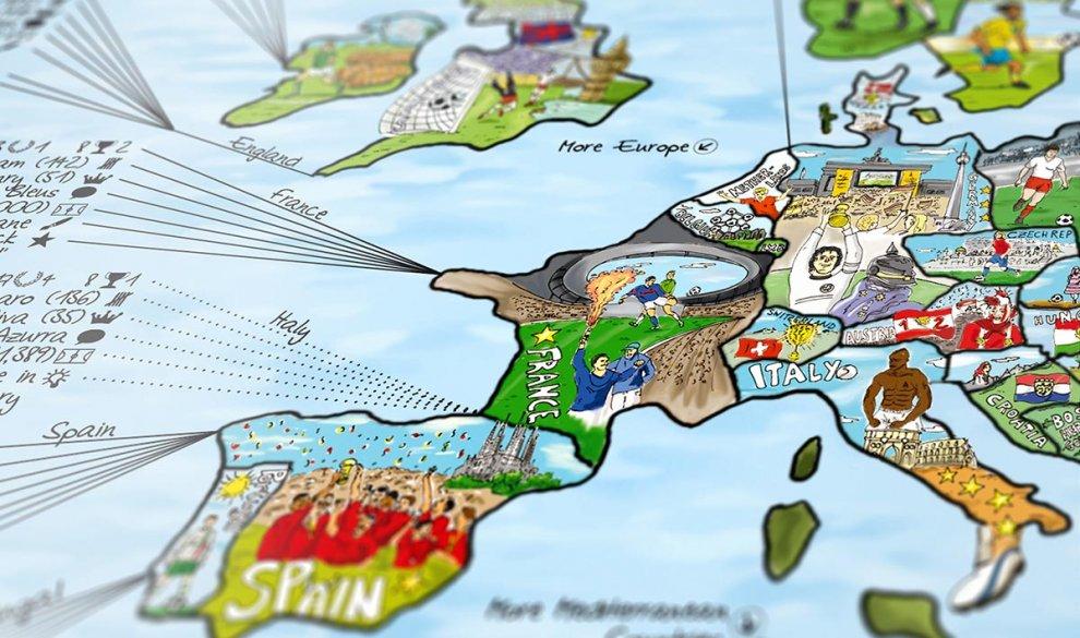 Football Map Of Spain.Football Map