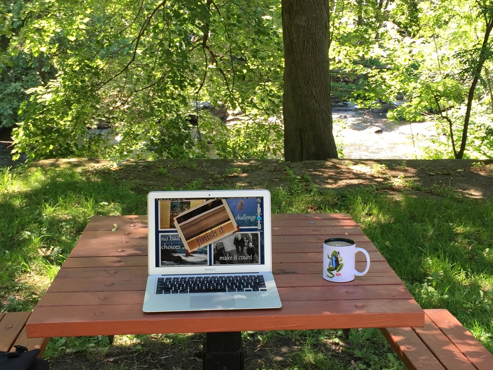 Portable Office, Summer Edition: Writing Wherever the Wander Takes Me! // Photo Credit: J. Elizabeth Clark, 2015