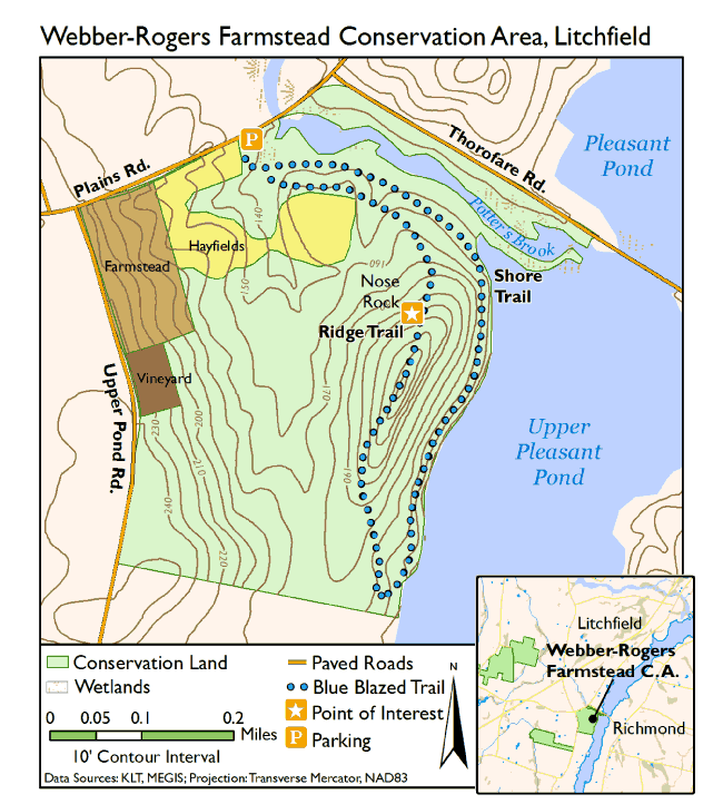 Litchfield Maine Map.Webber Rogers Farmstead Conservation Area Kennebec Land Trust