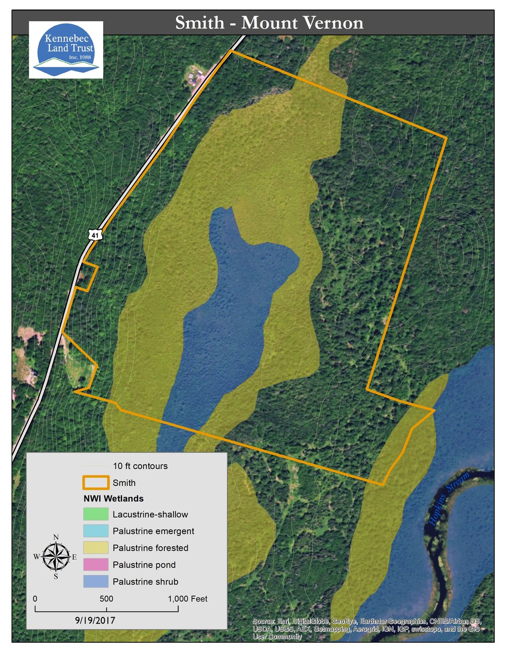 Ezra Smith Wildlife Conservation Area Map