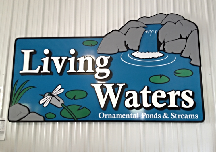 Signs | Living Waters Garden Center Interior Sign | Westminster, MD