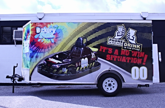 Graphics | Hickory Falls Distracted Driving Trailer Vehicle Wrap | Hanover, PA