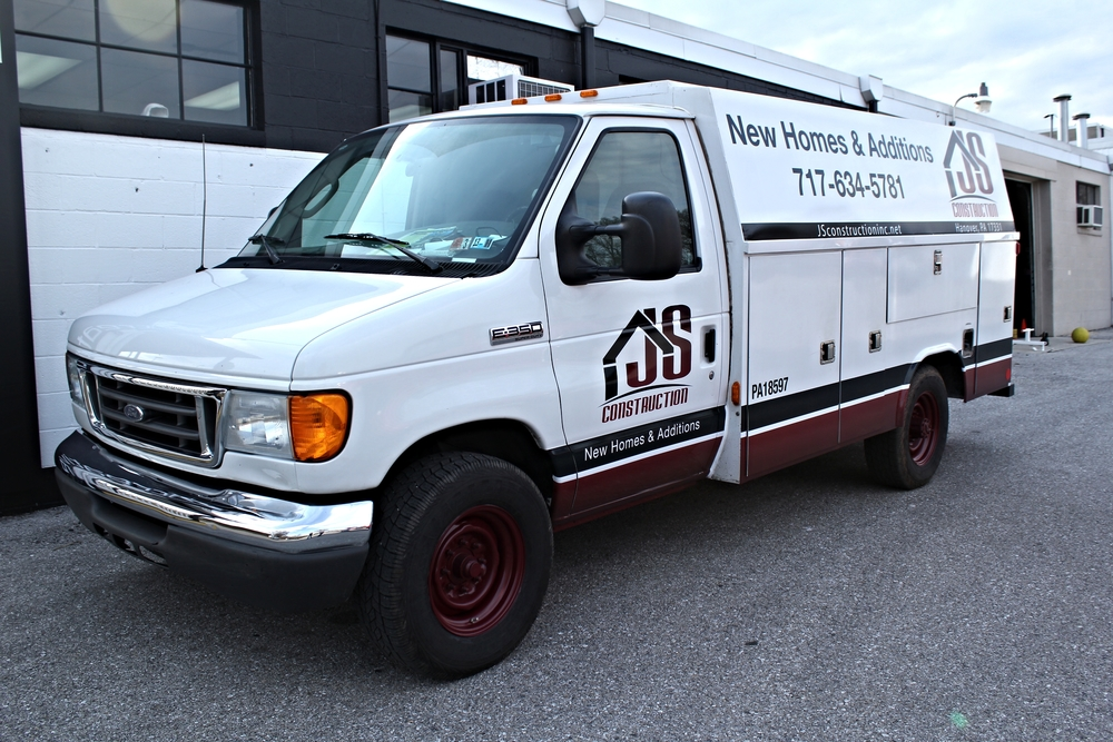 Graphics | JS Construction Vehicle Wrap | Hanover, PA