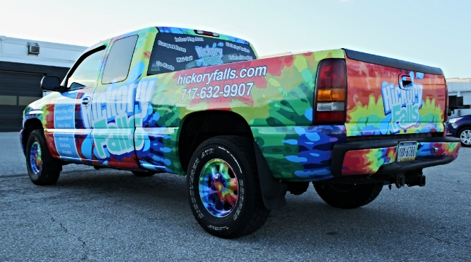 Graphics | Hickory Falls Truck Vehicle Wrap | Hanover, PA
