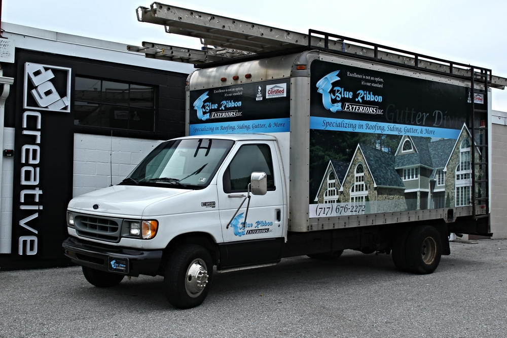 Graphics | Blue Ribbon Exteriors Vehicle Wrap | Spring Grove, PA