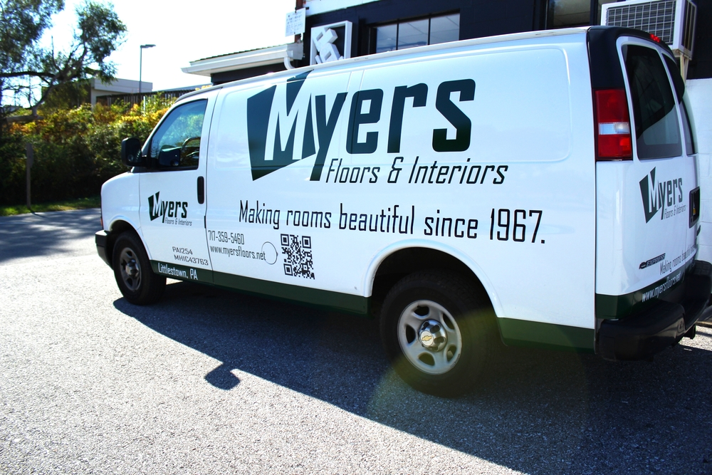 Graphics | Myers Flooring & Interiors Vehicle Wrap | Hanover, PA