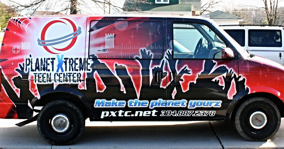 Graphics | Planet Xtreme Teen Center Vehicle Wrap | Princeton, WV
