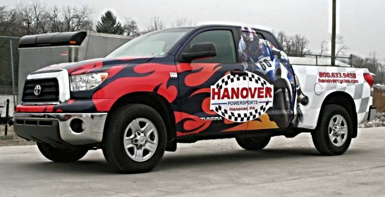Graphics | Hanover Power Sports Vehicle Wrap | Hanover, PA