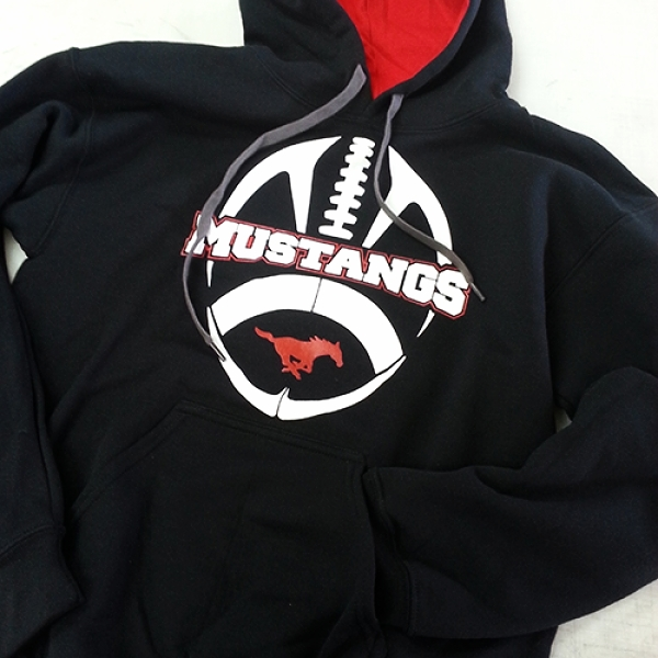 Screen Printing | Mustangs Football 2013 Sweatshirt | Hanover, PA