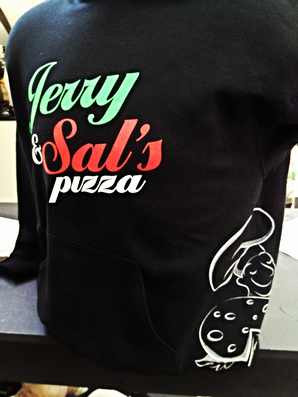 Screen Printing | Jerry & Sals Pizza Sweatshirt | Hanover, PA