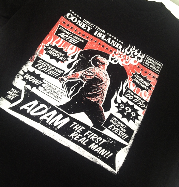 Screen Printing | Adam Real Man Shirt | Coney Island, NY