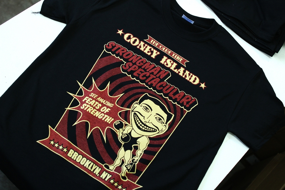 Screen Printing | Strongman Spectacular Shirt | Coney Island, NY