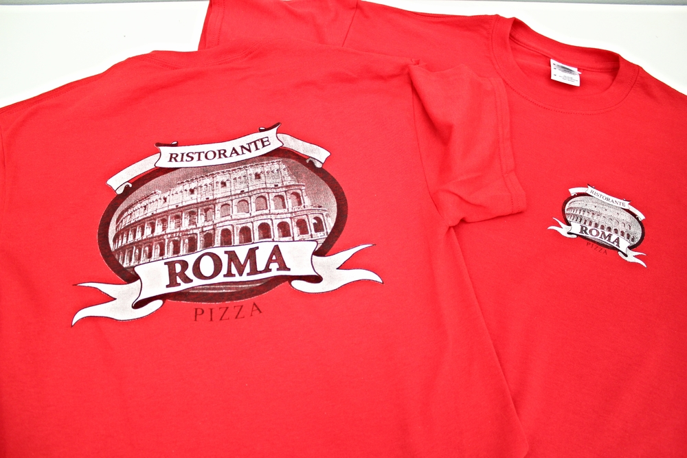 Screen Printing | Roma Pizza Ristorante Shirt | Hanover, PA