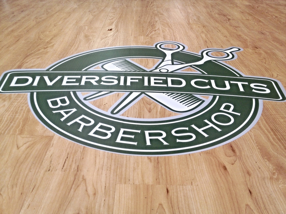 Graphics | Diversified Cuts Barbershop Floor Graphic | Hanover, PA