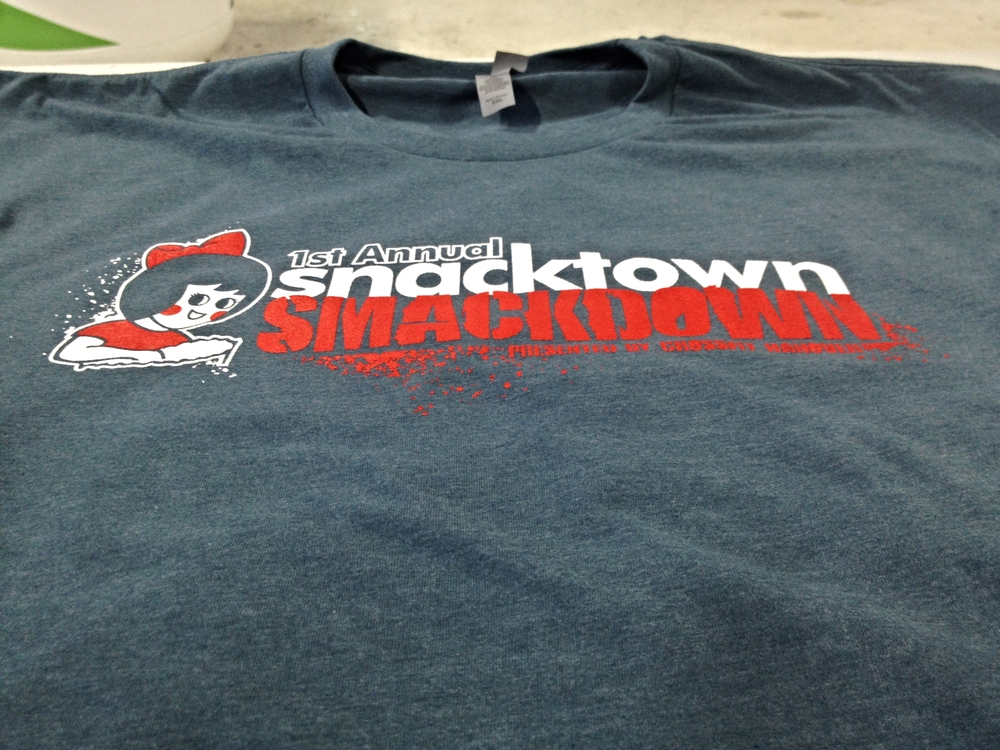 Screen Printing | Snacktown Smackdown Shirt | Hanover, PA