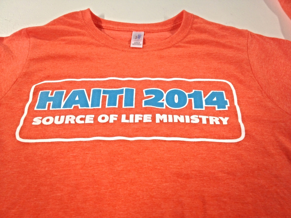 Screen Printing | Source of Life Ministry: Haiti 2014 Shirt | Hanover, PA