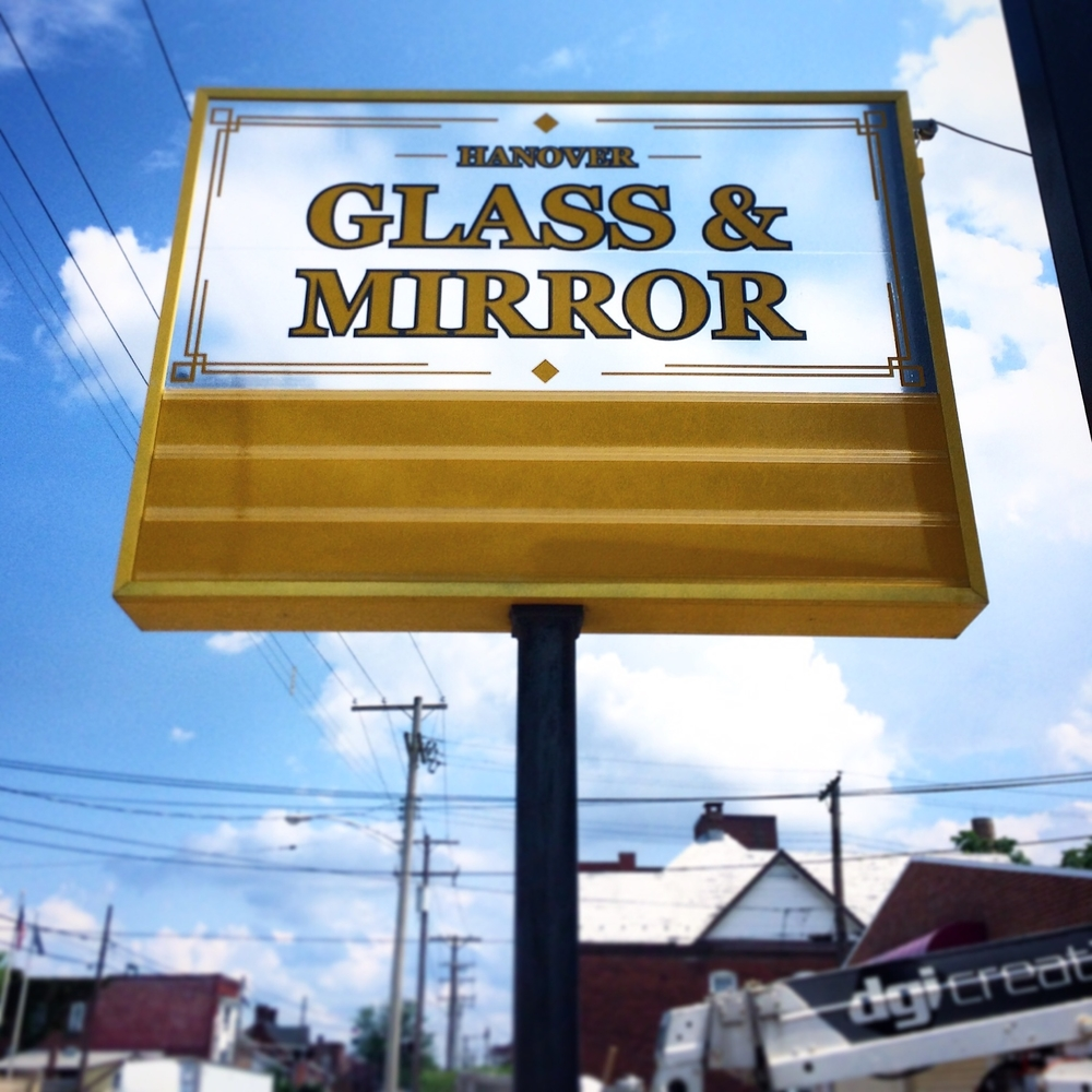 Signs | Hanover Glass & Mirror Sign | Hanover, PA