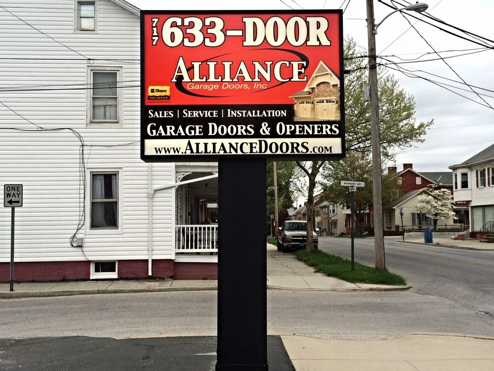 Signs | Alliance Garage Door Sign | Hanover, PA