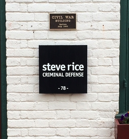 Signs | Steve Rice Criminal Defense Sign | Carlisle, PA