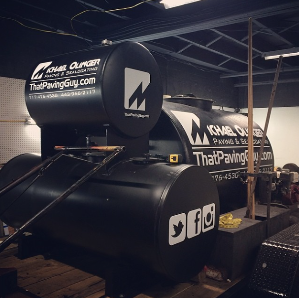 Graphics | Michael Olinger Paving Equipment Wrap | Littlestown, PA