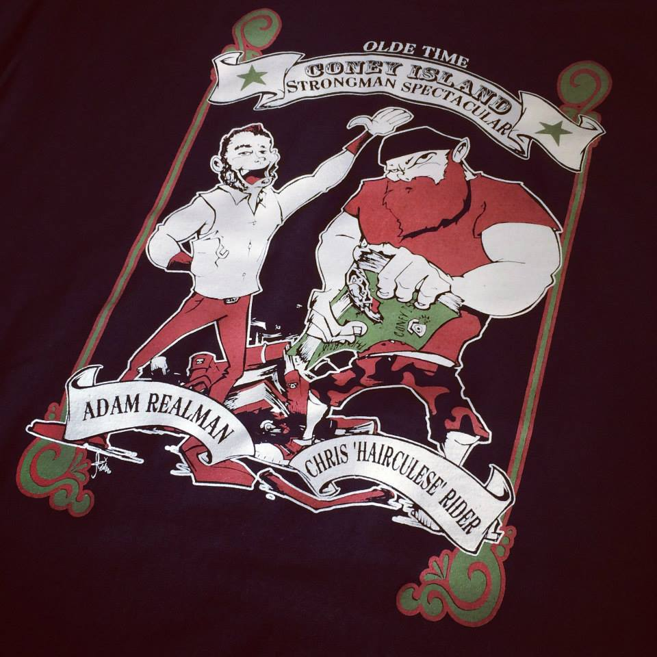 Screen Printing | Olde Time Strongman Spectacular Shirt | Coney Island, NY