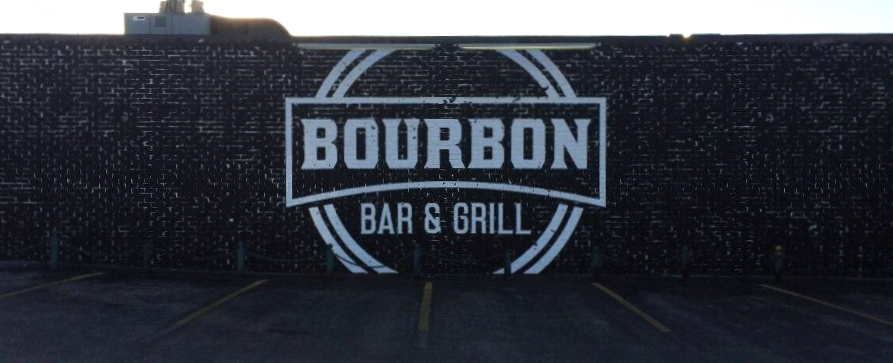 Signs | Bourbon Bar & Grill Wall Mural | Hanover, PA