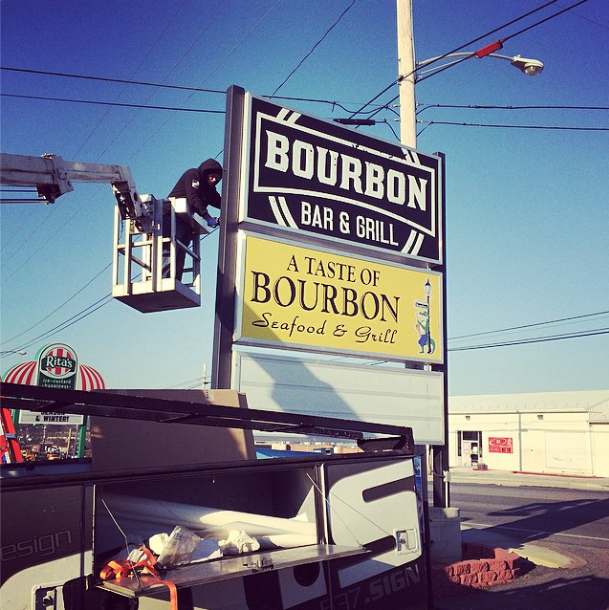 Signs | Bourbon Bar & Grill Sign | Hanover, PA