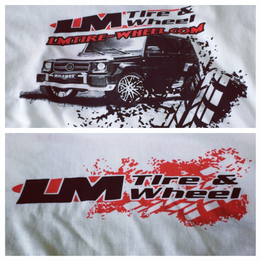 Screen Printing | LM Tire & Wheel Shirt | Abbottstown, PA